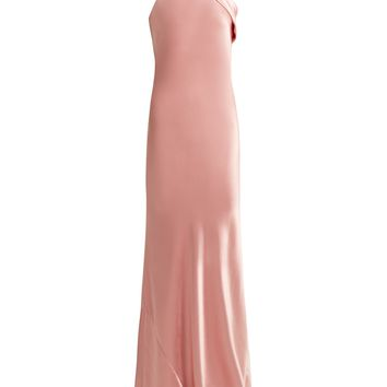 Pandora bias-cut silk satin gown | Galvan | MATCHESFASHION.COM US