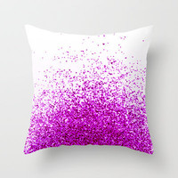 magenta Throw Pillow by Marianna Tankelevich