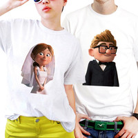 NSC-UP Carl and Ellie Couples Matching Shirts, Couples T Shirts, Funny Couple Shirts
