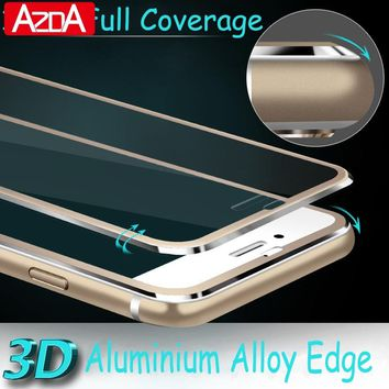 Aluminum alloy Tempered glass phone Coque For iphone X 8 6 6S 7 plus Case phone Accessories Full screen coverage 5 5S SE 5C