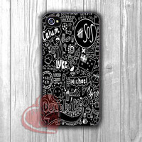 5sos black fan art collage-1na for iPhone 4/4S/5/5S/5C/6/ 6+,samsung S3/S4/S5,samsung note 3/4