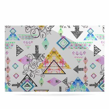 "Danii Pollehn ""Mixmatch"" Pink White Illustration Luxe Rectangle Panel"