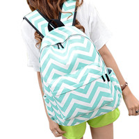 2016 omen Double-Shoulder Sweet Stripe Canvas Backpack Schoolbag Large Student Women Shoulder Bags Free Shipping