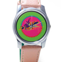 Bird Illustration Wrist Watch