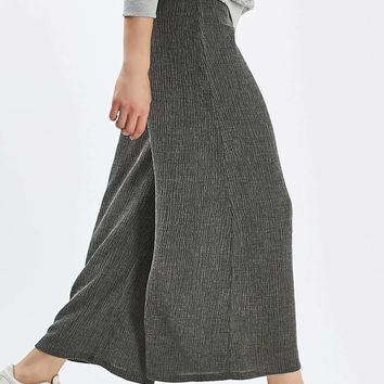 Textured Wide Leg Trousers - Clothing