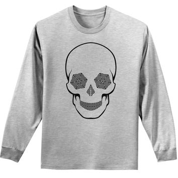 Hypno Skull Mens and Womens Unisex Trippy Long Sleeve Shirt