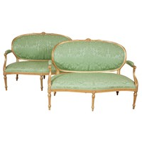 An important pair of 18th century settees attributable to Thomas Chippendale.
