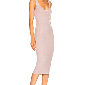 Enza Costa Rib Tank Dress in Frosted Lilac | FWRD
