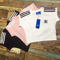 adidas Originals Three Stripe Cropped Top