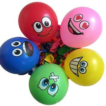LMFONHS 10pcs 12 inches Globos Smile Latex Balloons Inflatable classic Toys Air Ballons Wedding Decoration happy Birthday Party Supplies