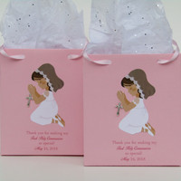 10 Girl First Communion Personalized Favor Bag-First Communion Favors