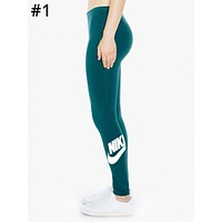 NIKE Tide New fashion letter hook print brand women's sports and fitness casual leggings