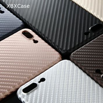 XBXCase Ultra Slim Thin Luxury Phone Case for iPhone 6 6S 8 Plus Carbon Fiber Patterned Back Cover for iPhone 7 7Plus X