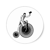 Model T Penny Farthing Classic Classic Round Sticker