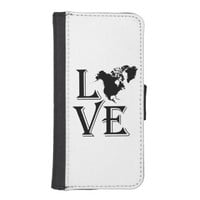 Love North America Continent iPhone 5 Wallet Cases