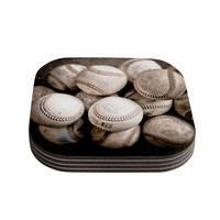 "Debbra Obertanec ""On the Mound"" Baseball Coasters (Set of 4)"