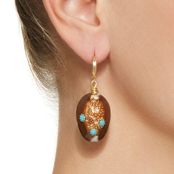 Long Weekend Shell And Turquoise Earrings | Moda Operandi