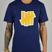 Undefeated Double 5 Strike T-Shirt - Navy