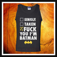 Fuck Batman tank top, batman costume tank top, unisex adult tank top, workout tank top, mens tank top, womens tank top