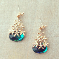 Japanese Snow Crystals Earrings - Default Title