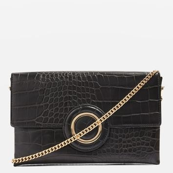 Cooper Crocodile Effect Clutch Bag