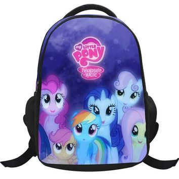 New design my little pony children backpacks for girls,cartoon kindergarten school bags for little girls,cute kids backpack