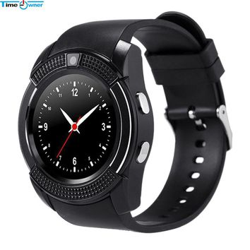 Time Owner V8 Smart Watch Android Watch Phone Clock Support SIM TF Card Bluetooth Notification Alarm Reminder for Samsung Xiaomi