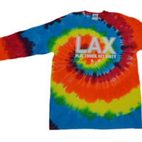 Lacrosse Tie Dye Long Sleeve T-Shirt LAX Logo