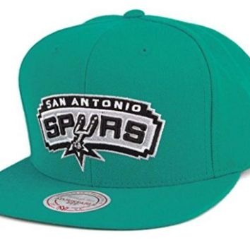 ONETOW Mitchell and Ness NBA Current Wool Solid NT78Z San Antonio Spurs Snapback Caps