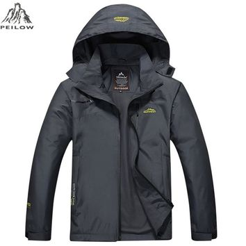 Trendy PEILOW Casual coat Men women Spring Autumn military Waterproof Windbreaker Jackets Male Breathable Tactical embroidery overcoat AT_94_13