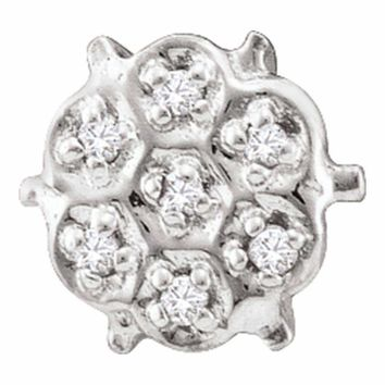 10kt White Gold Women's Round Prong-set Diamond Cluster Stud Earrings 1-20 Cttw - FREE Shipping (USA/CAN)