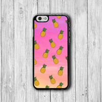 Hipster Pink Pineapple Fruit iPhone 6 Cover iPhone 6 Plus, iPhone 5/5S, iPhone 4/4S Hard Case, Rubber Drawing Accessories Girlfriend Gift