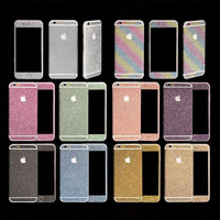 Glitter Powder Full Body Sticker For iPhone 7 6 Plus 5 5S Samsung S7 S6 Edge NOTE 5 J5 A7 A8 Front+ Back+ Sides Bling Skin Protector