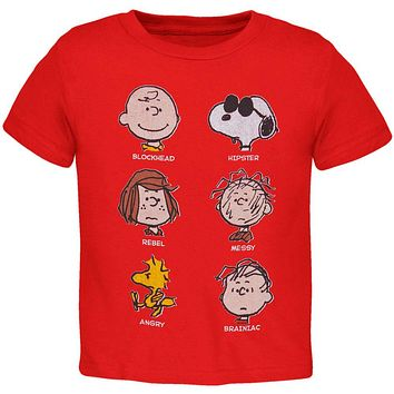 Peanuts - Red Faces Toddler T-Shirt