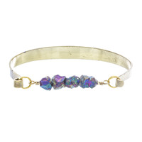 Rainbow Druzy Nugget Bangle