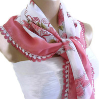traditional, authentic, square , Pink, scarf, wedding, bride, 2012 Spring Fashion, Traditional Turkish-style