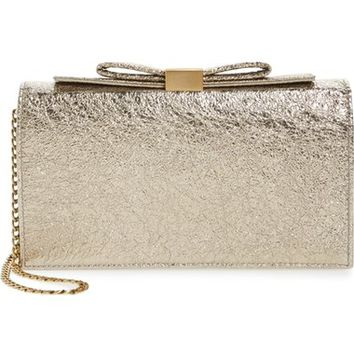 See by Chloé Nora Metallic Leather Clutch | Nordstrom