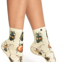 Women's Stance 'Beatle Babe' Ankle Socks - Beige