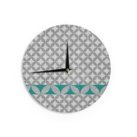 "Nick Atkinson ""Diamond Turquoise"" Wall Clock"