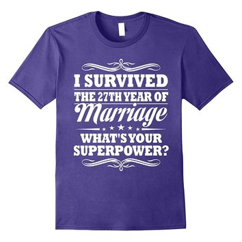 27th Wedding Anniversary Gift Ideas For Her/ Him- I Survived