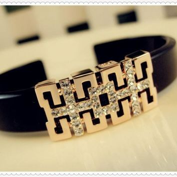 DCCK8N2 Great Deal New Arrival Hot Sale Awesome Gift Shiny Stylish Accessory Diamonds Bangle Acrylic Korean Star Bracelet [6514685127]