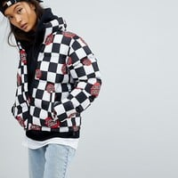 Santa Cruz Padded Jacket With All Over Logo at asos.com