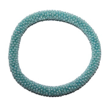 Light Blue Seed Beads Bracelet