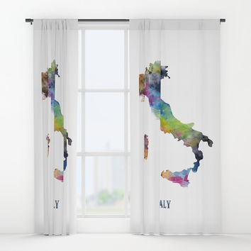 Italy Window Curtains by monnprint