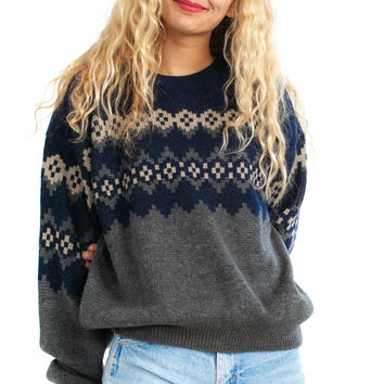 Vintage 90's Rory Blue Pullover - One Size Fits Many