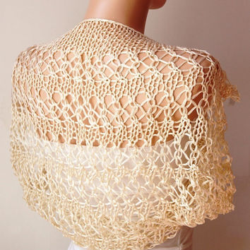 Shrugs, Knitting Natura Color, Cream Boleros