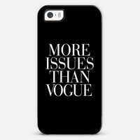 More Issues Than Vogue Black iPhone 5s case by Rex Lambo | Casetagram