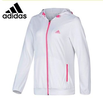 Original Adidas Women's Woven jacket Hooded Sportswear