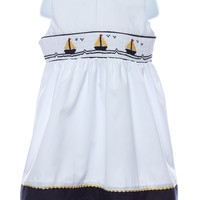 Carriage Boutique Smocked Sailboat Baby Girl Dress