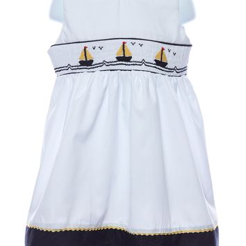 Carriage Boutique Smocked Sailboat Baby Girl Dress da9d7542e075